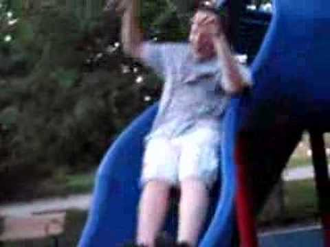 The don'ts of the playground - don't force your kids down sl