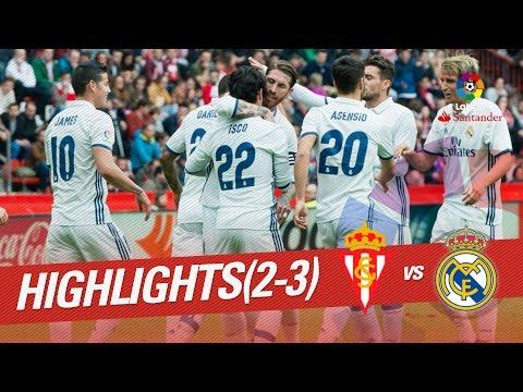 Resumen de Sporting de Gijón vs Real Madrid (2-3)