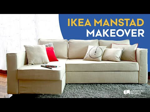 slipcover for ikea manstad sofa bed snug fit version youtube. Black Bedroom Furniture Sets. Home Design Ideas