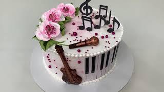 Так ПРОСТО и КРАСИВО Украсить торт для МУЗЫКАНТА Красивый торт