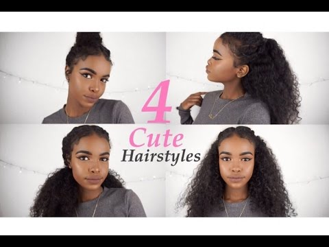 4 CURLY HAIRSTYLES FOR SPRING/SUMMER!