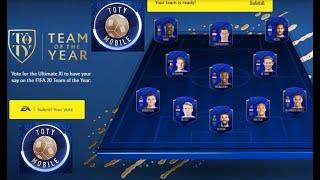 FIFA MOBILE 20 - TOTY 2019 FT. LEWANDOWSKI, MESSI , VAN DIJK - TEAM OF THE YEAR !