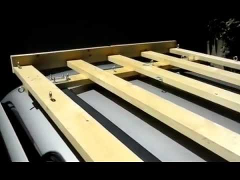 DIY roof rack - YouTube