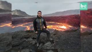 Photographer Gets Dangerously Close To Lava Lake - Erta Ale, Ethiopia