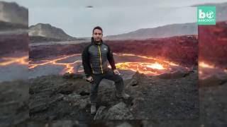 Photographer Gets Dangerously Close To Lava Lake - Erta Ale, Ethiopia