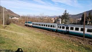 REGIONALE E INTERCITY IN TRANSITO A RIGOROSO. (AL) VEN. 4 - 1 - 2019