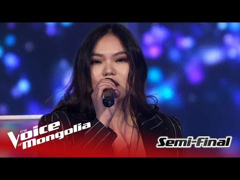 "Ariunjargal - ""Dancing on my own""   Semi-Final   The Voice of Mongolia 2018"