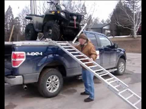 ATV Quad Loaded on Truck Increases Capacity - YouTube