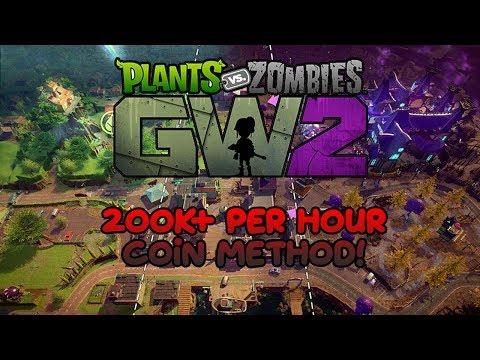 PvZ GW 2 Coin Method (200k per hour)!!