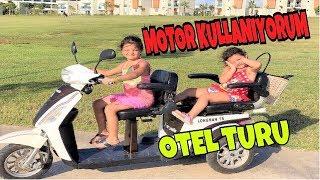 MASAL 3 TEKERLEKLİ MOTOR SÜRDÜ !! Ailece Eğlenceli Otel Turu Yaptık