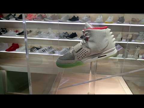 Nike Air Yeezy 2 Platinum @ DRIPLA Popup Shop Kanye West Sneakers Kickz Shoes  2017