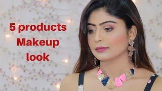 5 Products Makeup Look   Teenagers Makeup Tutorial   Rinkal Soni