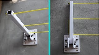 How To Make Foldable Clothes Drying Rack || Wall Mount Drying Rack