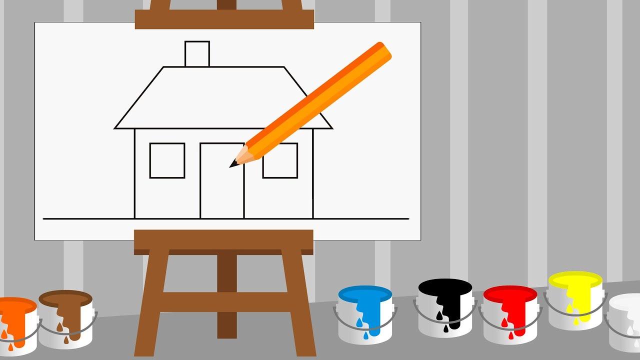 Nauka Rysowania Dla Dzieci Rysowanie Domu Czywieszjak