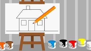 Nauka rysowania dla dzieci - Rysowanie domu | CzyWieszJak