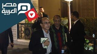 مصر العربية   محمد صبحي في عزاء محمود عبد العزيز