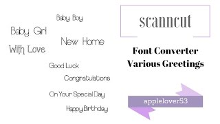 ScanCut Font Converter Various Fonts for Writing