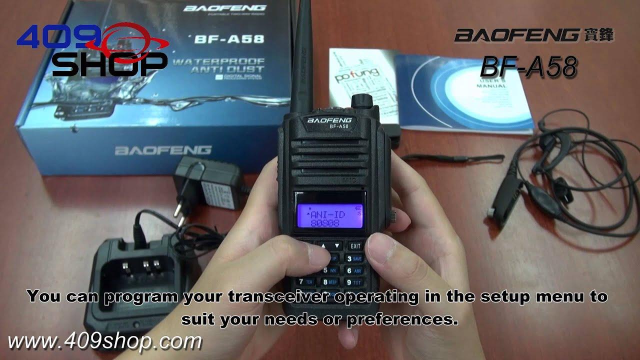Baofeng Bf A58 Waterproof Anti Dust Two Way Radio Ht Uv5r Dual Band Uhf Vhf Walkie Talkie
