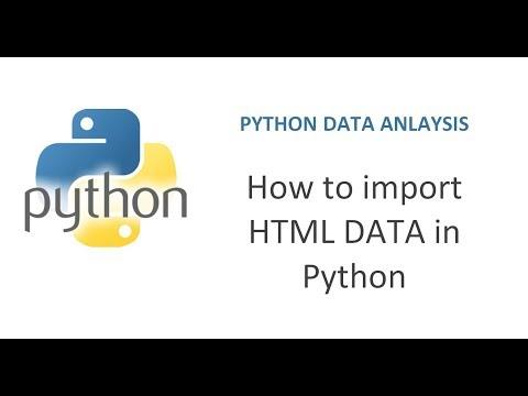 Python Pandas Tutorial 8   How To Import HTML Data In Python   Importing HTML Data In Python