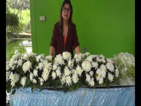 วิธีจัดดอกไม้ แบบน๊อคดาวน์          How to arrange flowers