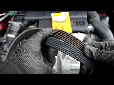 1.6 HDI TDCI - How to remove and replace auxiliary drivebelt Peugeot Citroen Ford