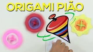 Origami Pião - Aprenda fazer!