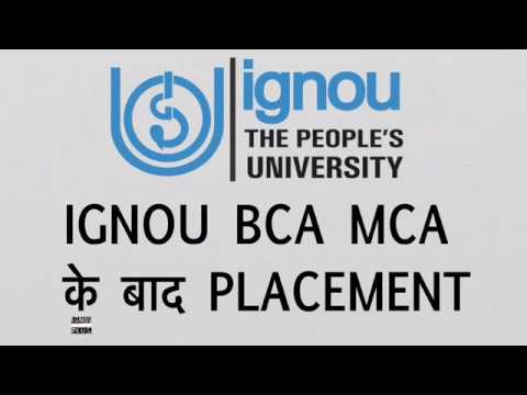 Placement options after BCA MCA from IGNOU | What are job options after IGNOU BCA & MCA