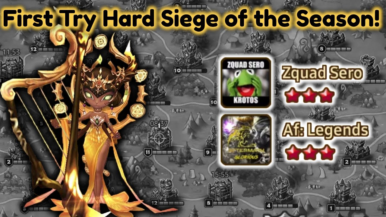 First Try Hard Siege of The Season Aftermath Legends & Zquad Sero - Summoners War