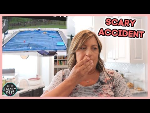 SCARY POOL ACCIDENT... COULD HAVE BEEN MUCH WORSE