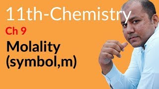 what is molality