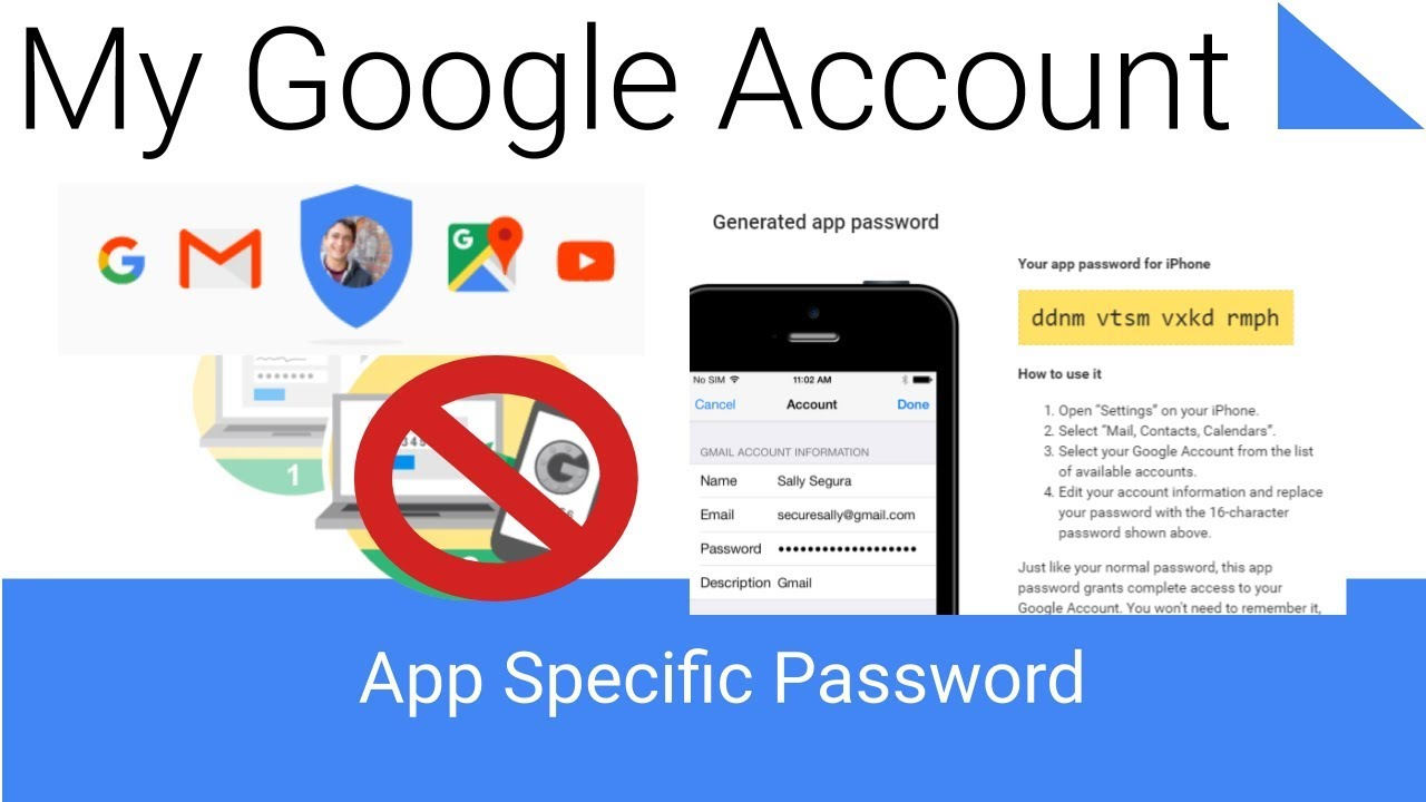 How to Generate a App Specific Password - My Google Account