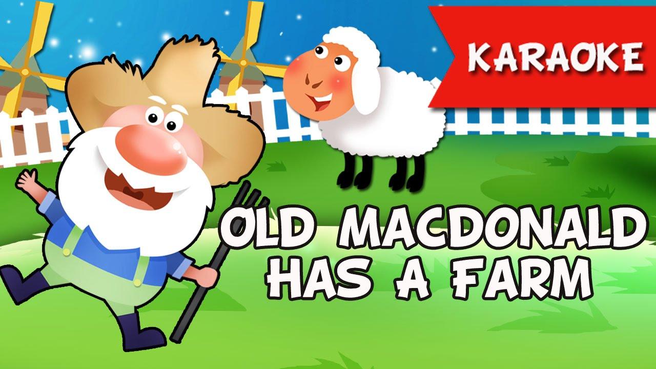 Old Macdonald Had A Farm Karaoke Instrumental Music Only Nursery Rhymes You