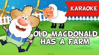 Old MacDonald Had A Farm Karaoke Instrumental Music Only | Nursery Rhymes,