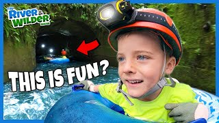 CRAZY FUN Tubing in Tunnels in Hawaii |  Adventure Travel with Kids