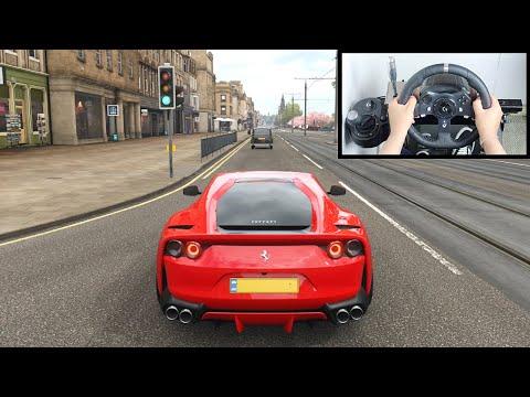 Forza Horizon 4 Ferrari 812 Superfast (Steering Wheel + Paddle Shifter) Gameplay