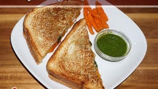 Grilled Potato Sandwich By Manjula, Indian Vegetarian Recipes