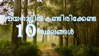 Top Ten Places to Visit In Wayanad