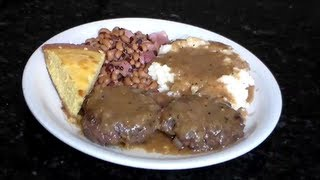 "Smothered Hamburger Patties ""southern Style Soul Food"""