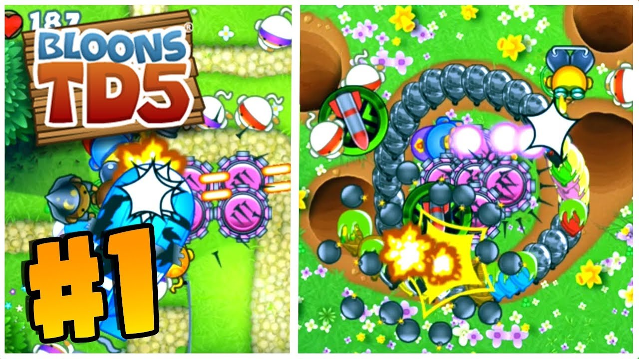 SO MANY NEW MAPS   Bloons Tower Defense 5   BTD 5 Gameplay Part 1