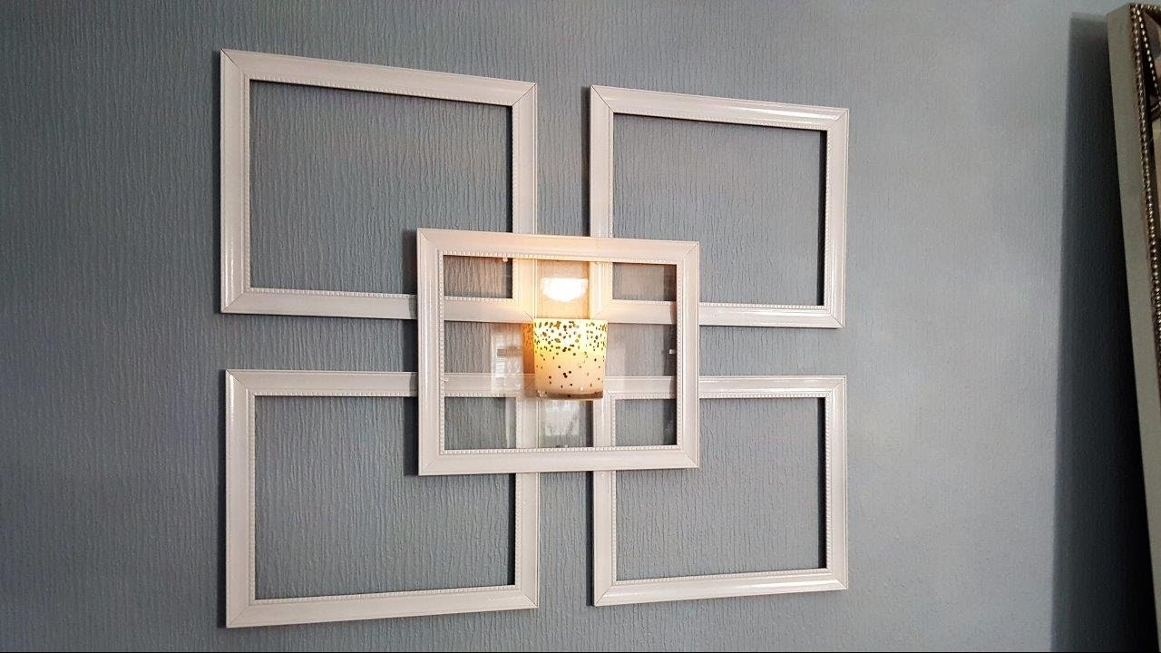 Dollar Tree Picture Frame Wall Sconce - Use What You Have Decorating ...