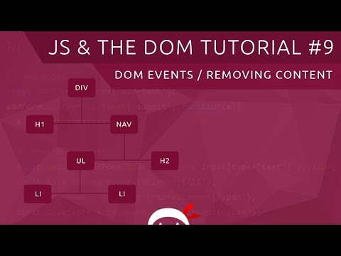 JavaScript DOM Tutorial #9 - Events