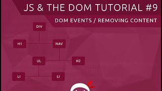 JavaScript DOM Tutorial #9 - Events