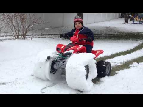 Power Wheels Snow Tire Monster truck in the Making!