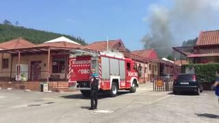 Incendio en el camping de Deva