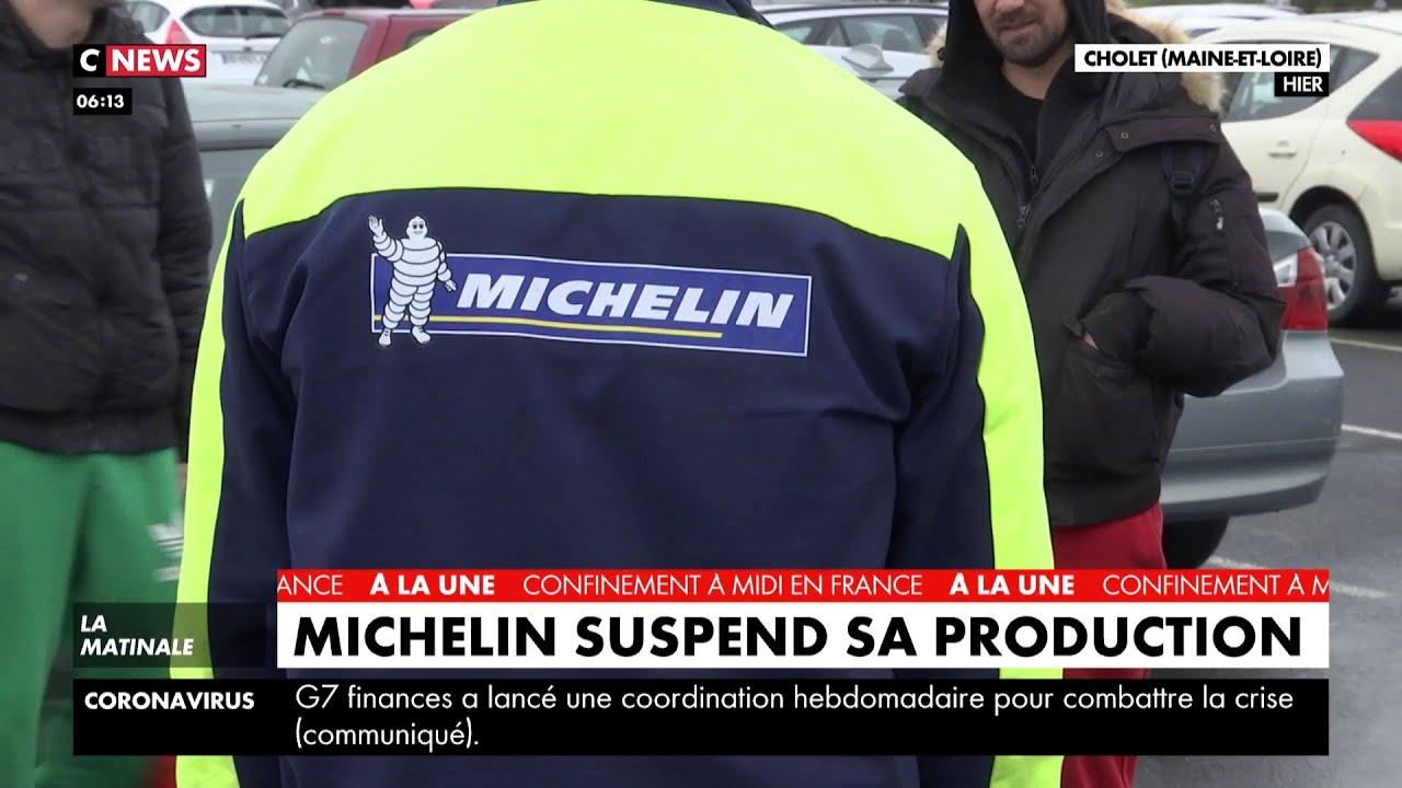 Coronavirus : Michelin suspend sa production - YouTube