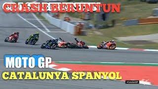 Download Video CRASH MOTO GP Catalunya 2019 Rossi, Lorenzo, Vinales, Dovizioso MP3 3GP MP4