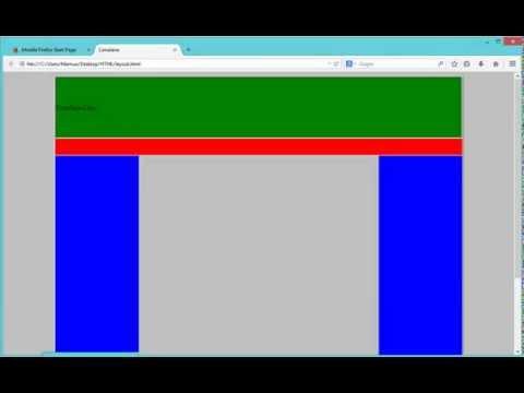 HTML Bangla Tutorials Lession 19 ( Layout )