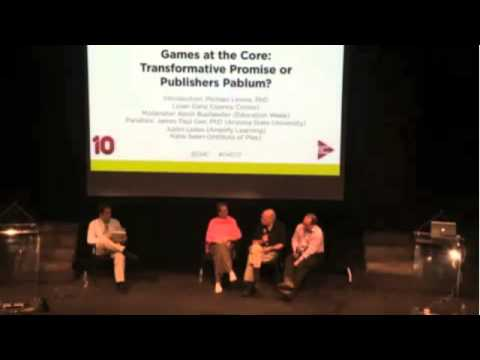 G4C13: Games at the Core: Transformative Promise or Publishers Pablum? (Joan Ganz Cooney Center)
