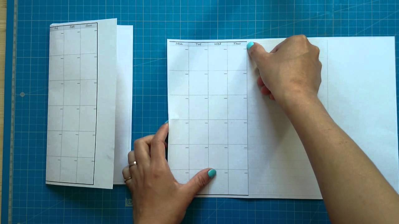 How to make/DIY the midori style calendar insert - YouTube