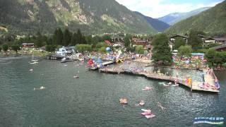 Schwimmbad und See Camping Mössler in Döbriach am Millstätter See / Kärnten
